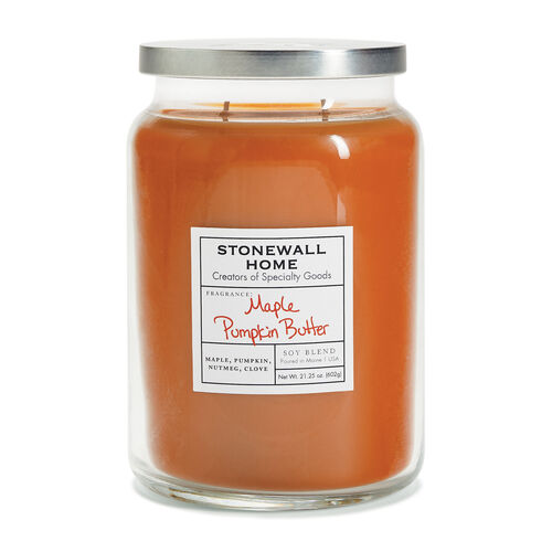 Stonewall Home Maple Pumpkin Butter Candle Collection