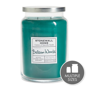 Stonewall Home Balsam Woods Candle Collection