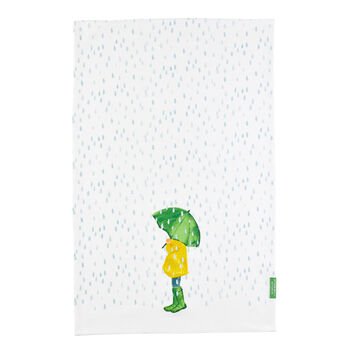 April Showers Tea Towel