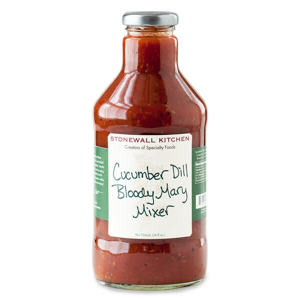 Our Cucumber Dill Bloody Mary Mixer features the garden fresh flavor of just-picked cucumbers, dill, a dash of horseradish, tomato and spices. It's nicely balanced, not too spicy and perfect for your next weekend brunch. Simply pour over ice, add your favorite vodka, garnish with a fresh cut cucumber and enjoy!