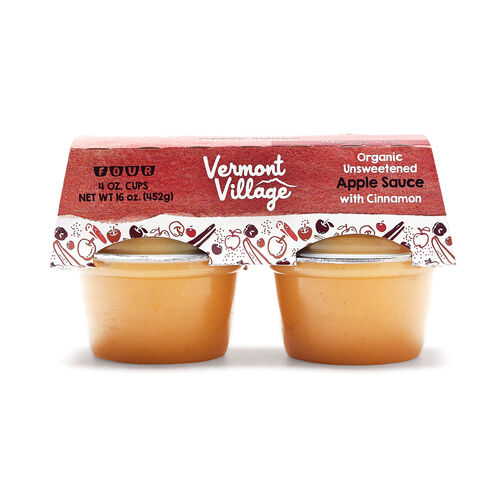 Cinnamon Apple Sauce (Organic) - 4 oz Cups