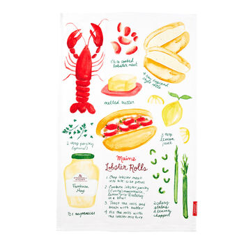 Lobster Roll Tea Towel
