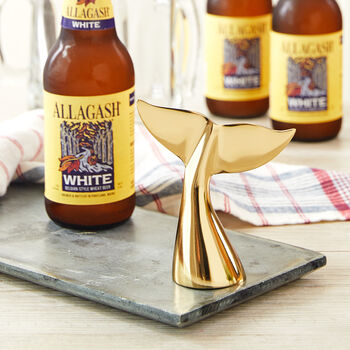 Gold Whale's Tail Bottle Opener