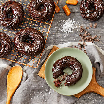 Milk Chocolate Sea Salt Crullers