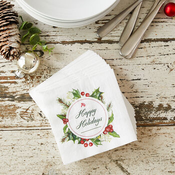2019 Holiday Cocktail Napkins
