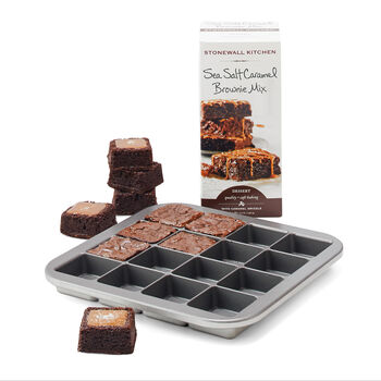 Brownie Bites Pan & Sea Salt Caramel Brownie Mix