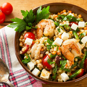 Mediterranean Shrimp & Couscous Salad