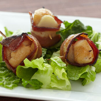 Ginger Chicken Bacon Bites