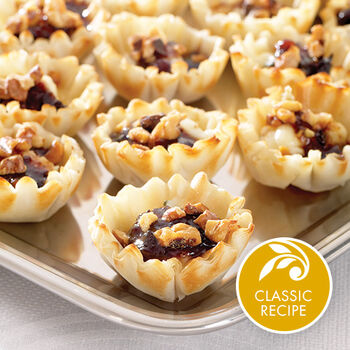 Fig, Walnut & Blue Cheese Mini Cups