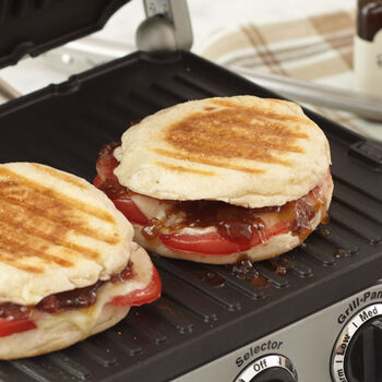 Plum Tomato and Provolone Panini