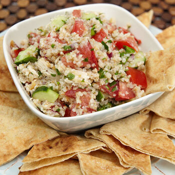 Chicken and Cucumber Tabbouleh Salad