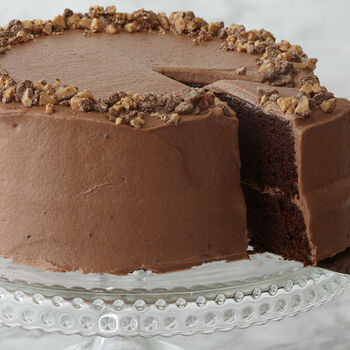 Chocolate Stout Cake with Dark Chocolate Toffee Frosting