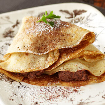 Coconut Chocolate Crepes