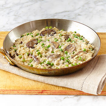 Roasted Garlic Risotto with Wild Mushrooms