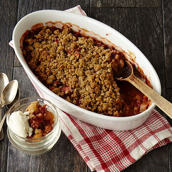 Rhubarb and Pear Crisp