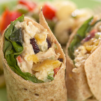 Mango Chicken Salad Wrap