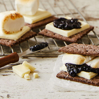 White Chocolate and Jam S'more