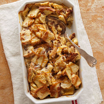 Souffleed Irish Whiskey Bread Pudding
