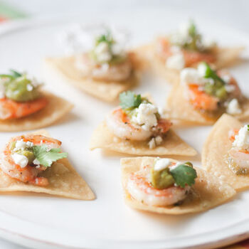 Shrimp and Salsa Verde Appetizer
