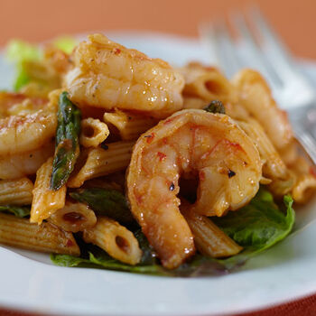 Curried Roasted Garlic Prawn Salad