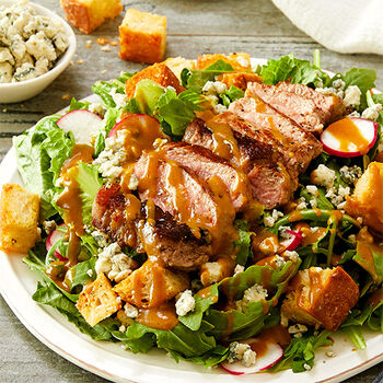 Spicy Honey Mustard Steak Salad