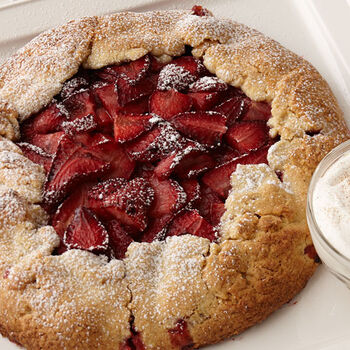 Rustic Balsamic Strawberry Crostata