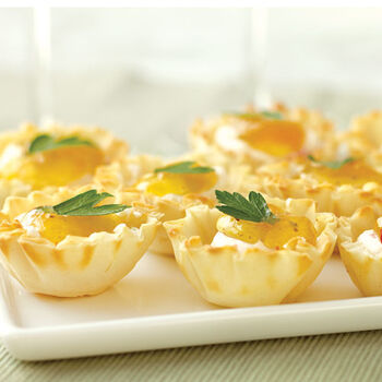 Hot Pepper Peach Cheese Cups