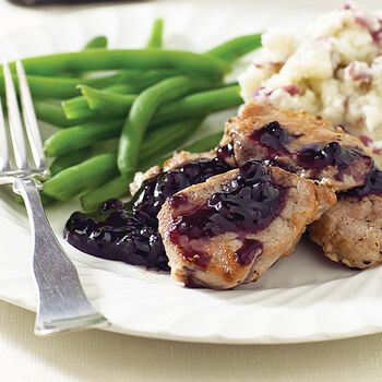Savory Blueberry Sauce for Pork or Chicken