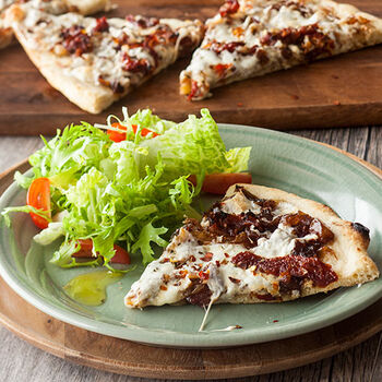 Pizza with Mozzarella & Sauteed Onions