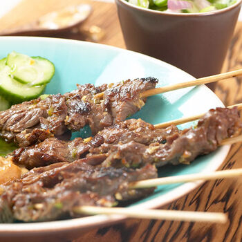 Asian Beef Satay Appetizer