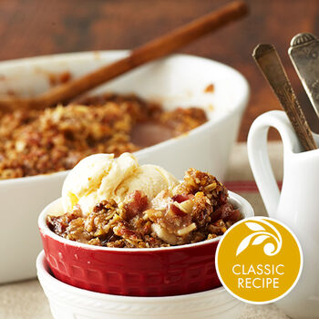 Apple Cheddar Crisp with Orange Cranberry Marmalade Topping