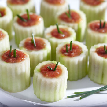 Mini Gazpacho Cucumber Shooters