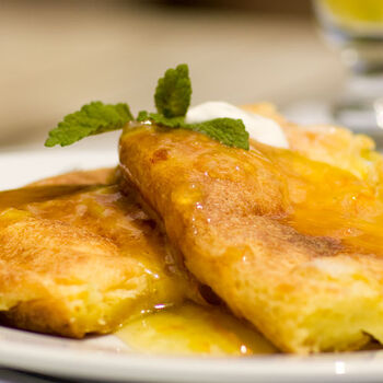 Baked French Toast with Mimosa Jam