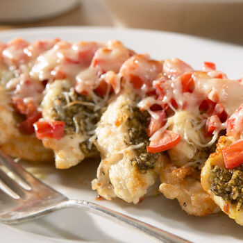 Pesto Chicken with Italian Three Cheese