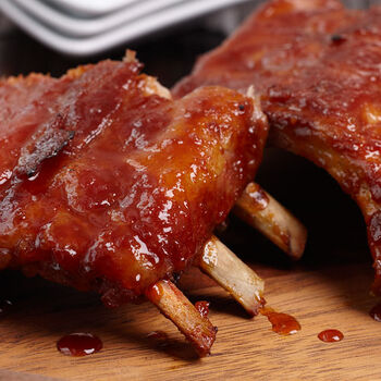 Baby Back Ribs with Spicy Honey Mustard